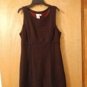 Sophie Max black and burgundy dress. Great cond.